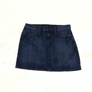 🆕 GAP denim stretch mini jean skirt size 6